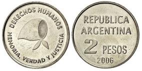 Monedas 2 Pesos Argentinos Conmemorativas, Lote De Colección