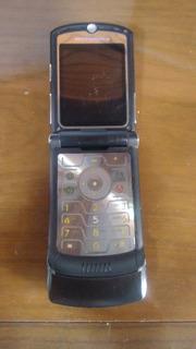 Celular V3 Black Motorola Desbloqueado E Bom Estado Fotos