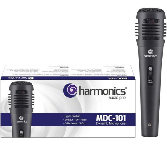 Microfone Dinâmico Mdc101 Harmonics Preto Promoção! Oferta!
