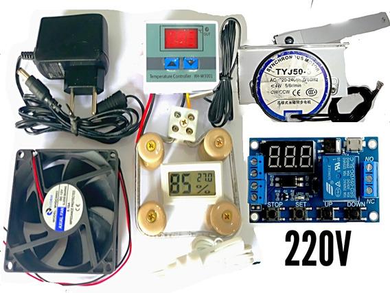 Kit Para Chocadeira Termostato Culer Timer Motor Medidor Umd