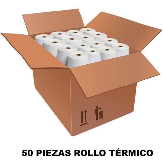 Rollo Papel Termico 57x60 Pcm Impresora Termica Mini Printer Caja 50pz Mayoreo