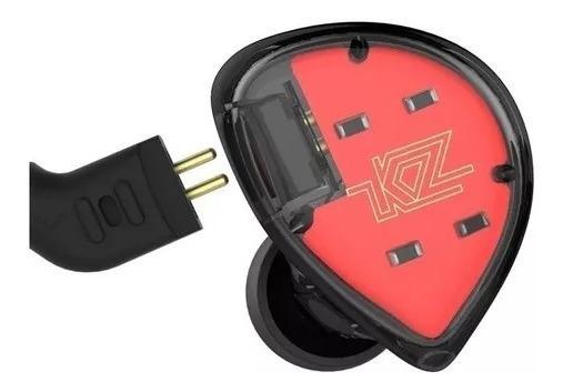 Fone Kz Es4 Retorno Monitor Palco Esportes Case Brinde