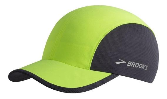 Gorra Brooks Run-thru Yellow Proteccion Uv Running Trail