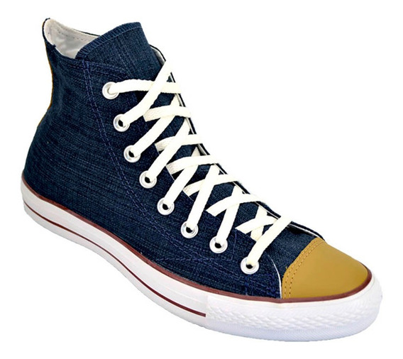 Zapatilla Botita Converse All Star Hi Lino Original Azul