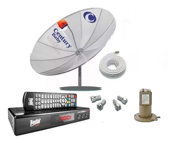 Antena Digital Century 1,70 Cm Com Receptor Bedinsat Bs9500