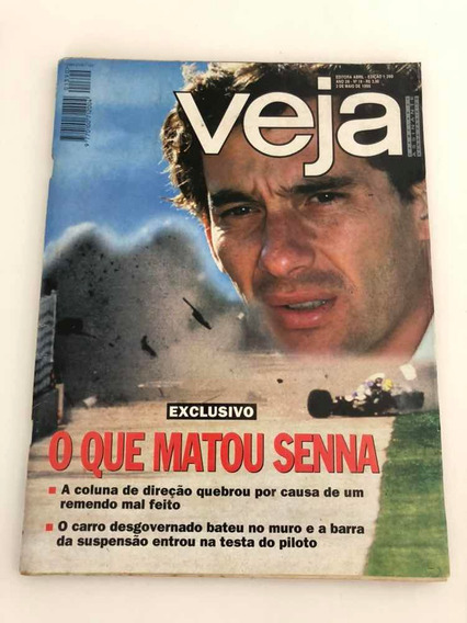 Revista Antiga Ayrton Senna 1995 - Veja