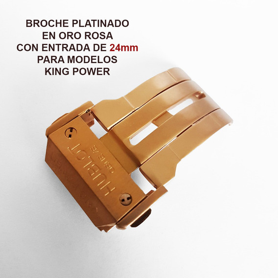 Broche Desplegable Dorado De 24mm Para Hublot King Power Envio Inmediato