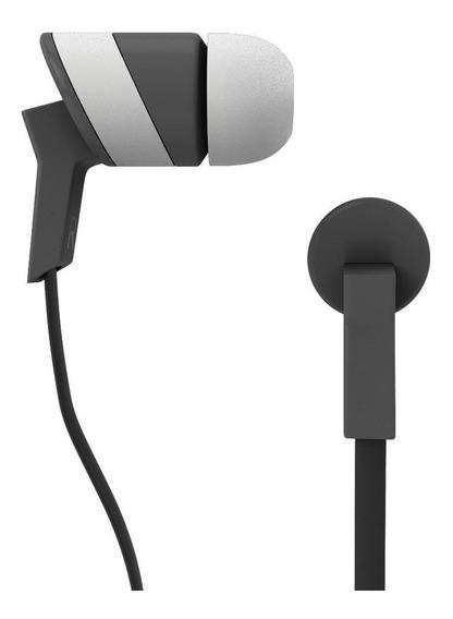 Fone De Ouvido Intra-auricular Aquarius Rock-branco/cinza