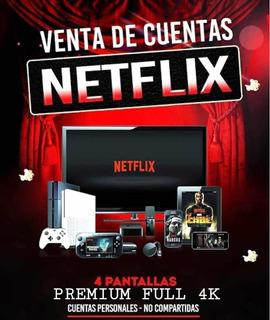 Cuente Neflix/ 1 Mes/ 4 Screens/ Hd