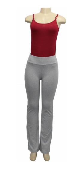 Calça Flare Feminina Bailarina Legging Fitness Yoga Moda Cal