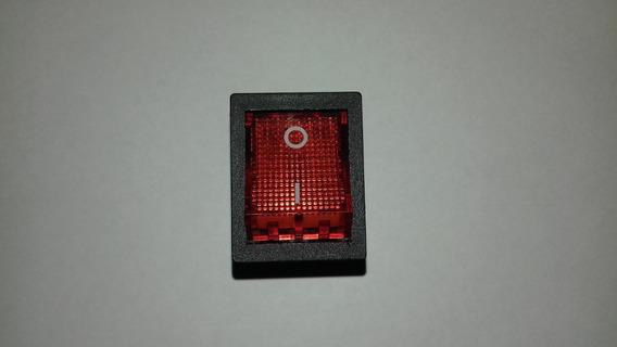 Chave Vermelha Com Led Liga Desliga 16a P/ Maquinas De Solda
