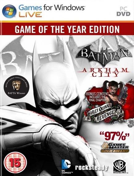 Batman Arkham City Goty Pc - Steam Key (envio Flash)