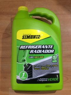 Refrigerante Para Radiador Simoniz Qualitor Verde Galon