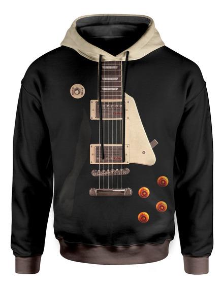 Moletom Com Capuz Unissex Guitarra Lespaul