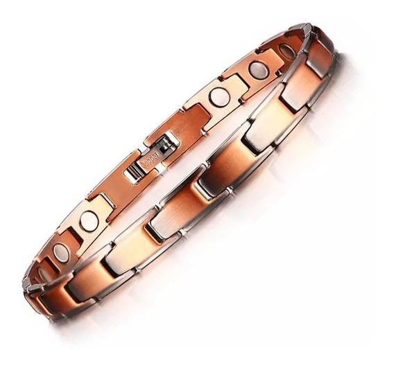 Pulseira Feminina Magnética Bracelete Feminino Em Cobre Luxo