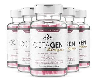 5x Colágeno Hidrolisado Pele Unha E Cabelo Octagen 60cap