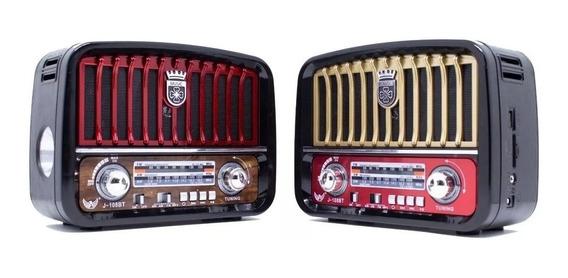 Caixa Som Retro Vintage Radio Am Fm Bluetooth Sd Antiga