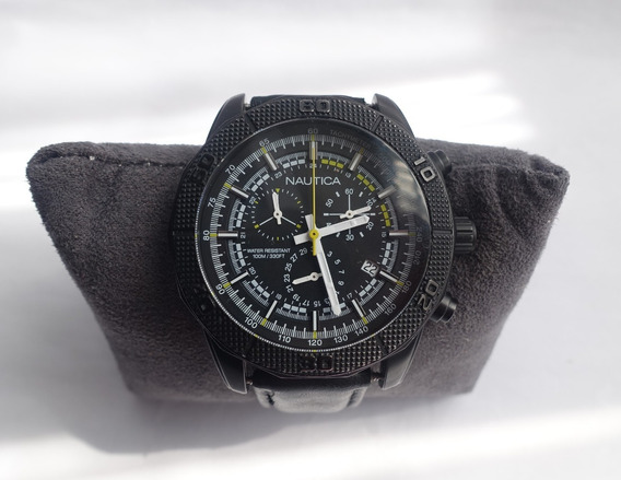 Reloj Nautica Nst 11 Nai17520g Negro Chronografo !