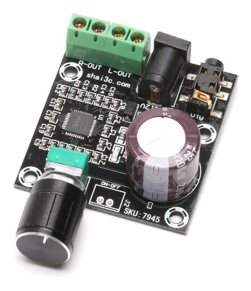 Amplificador De Som 2x15 W Pam8610 Estéreo Classe D Digital Placa Montada 12 V