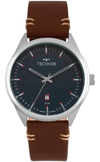 Relógio Technos Masculino Marrom Classic Steel 2115msc/0a