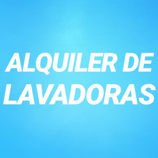 Alquiler De Lavadoras En Caracas