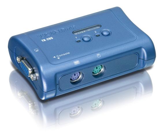 Kit De Conmutador Kvm Switch Kit Tk-205k Vga Y Ps/2 Trendnet
