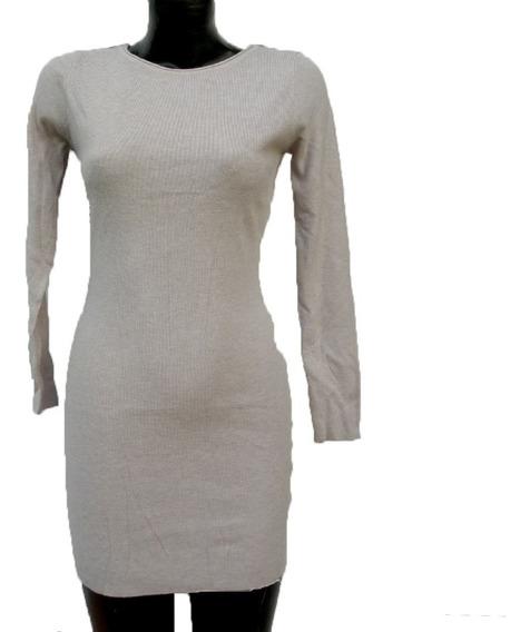 Vestido De Suéter Corto, Para Invierno Con Brillos