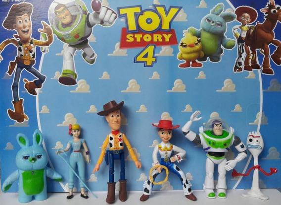 Muñecos Toy Story 4 Woody Buzz Jessie Forky Juguete Niños 6p