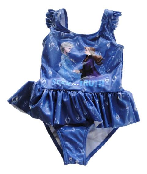Traje De Baño Para Niña Frozen Azul