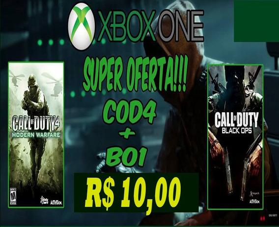 Cod Mw 4 / Cod Black Ops 1 - Xbox One - Retrocompativel