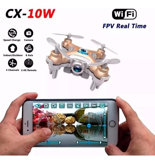 Drone Camera Hd Ao Vivo Fpv Wifi Seguir Gps Bateria Longa