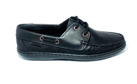 Zapato Nautico Scarpino Cuero Escolar Clásico Mocasin Cordon