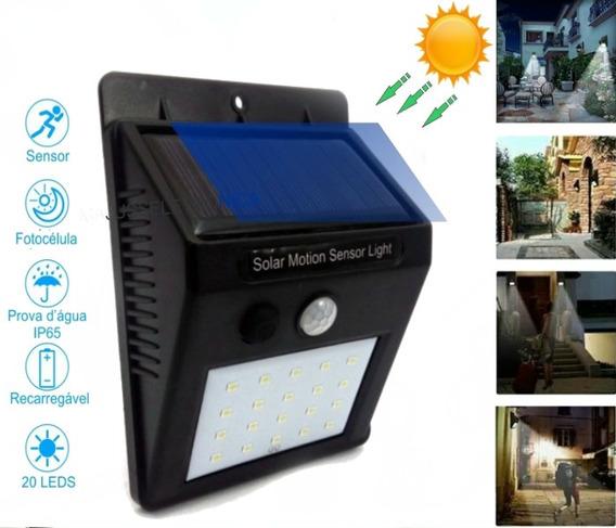 Luminária -solar -jardim -poste Led..parede/sensor Movimento