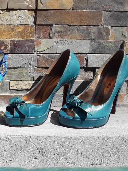 Zapatos Verde Petroleo Batistella