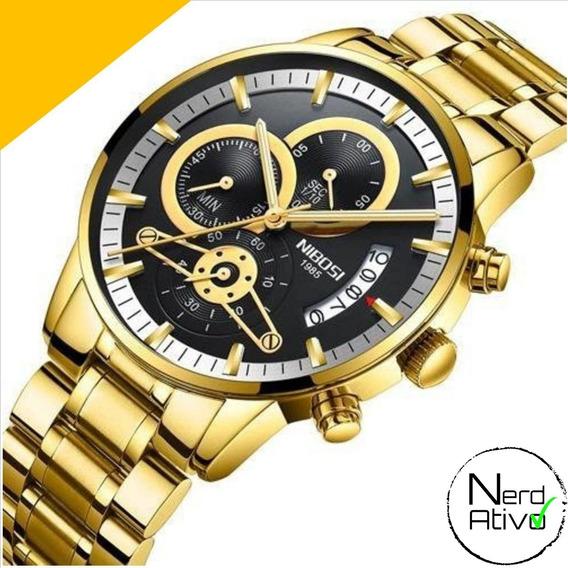 Relógio Nibosi: Cronógrafo Original 2353 - Frete Grátis #na