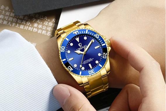 Relógio Chenxi Masculino Dourado Linha Gold Prémio