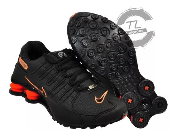 Tenis Masculino Nike Shox Nz 4 Molas Macio Original