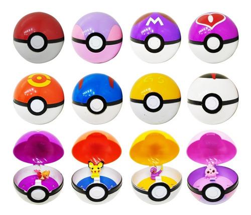 Pokemon Pokebola Con Muñeco Y Luz Varios Colores