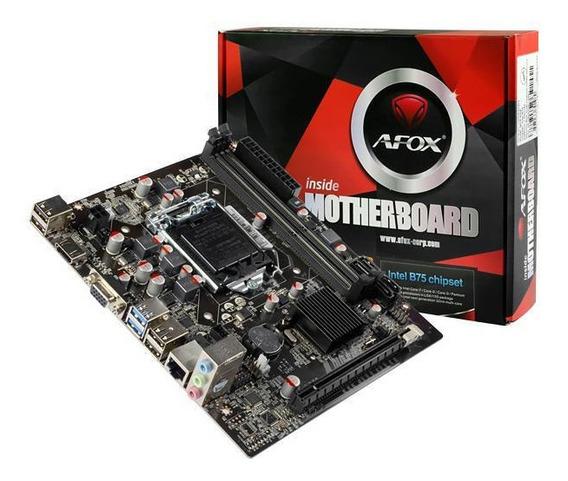 Placa Mae Mb Afox P/ Intel Lga 1155 Hdmi/vga/usb3 Ib75-ma5