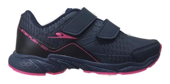 Tênis Feminino Infantil Klin Step Flex Marinho Pink 134058