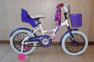 Bicicleta Raleigh Lil Honey Rodado 16 Full Excelente Estado