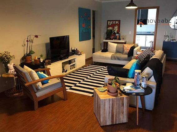Apartamento Com 3 Dormitórios À Venda, 135 M² Por R$ 1.312.500 - Jardim - Santo André/sp - Ap1620