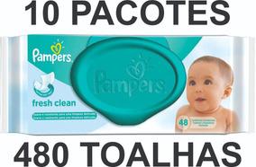 Lenços Umedecidos Pampers Fresh Clean 480 Toalhas - Oferta!!