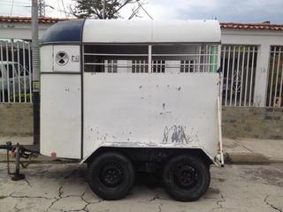 Trailer Remolque O Zorra Para Caballos 2 Puestos Recib 950