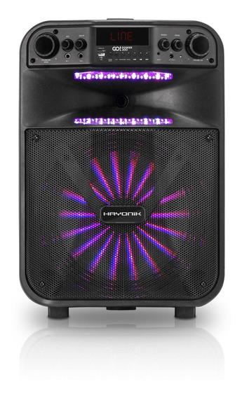 Caixa Amplificada Portatil Bluetooth Usb 200w Go Power 300