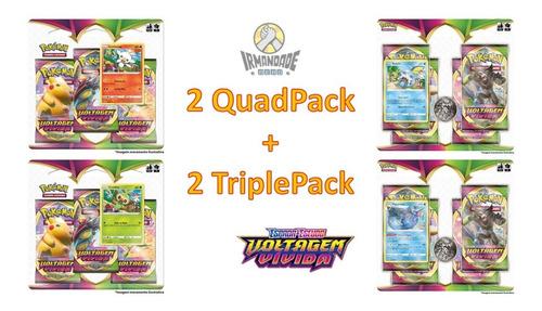 Blister Quádruplo + Triple Pack Ee4 - Pokémon -  Copag