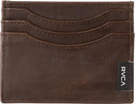Cartera Rvca, Mod. Newland Leather Wallet, Colores Dbr Y Lbr
