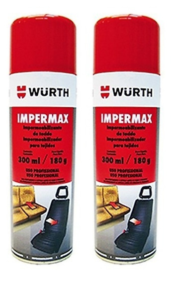 02 Impermax Impermeabilizante Para Tecidos Wurth Poltronas