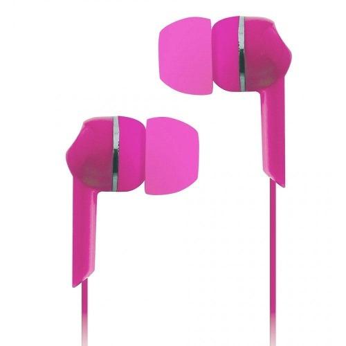 Fone De Ouvido Com Fio Rosa Estéreo Coby Cve56