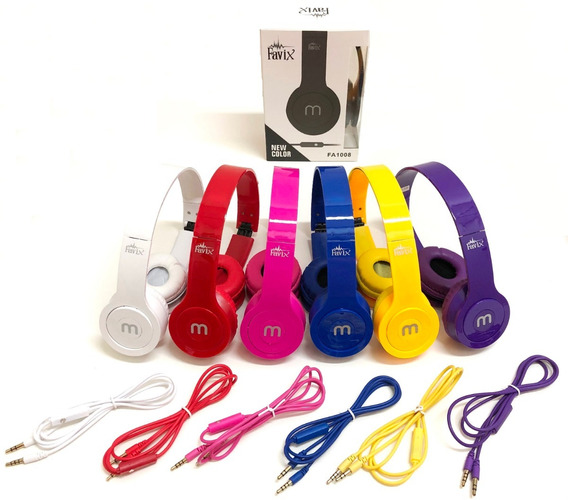 Kit Com 10 Headfone Com Cabo Removível E Microfone - Atacado